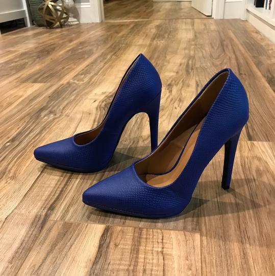Qupid Blue Pumps Image 1
