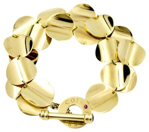 Roberto Coin Double Row Disc Toggle Bracelet in 18k Yellow Gold