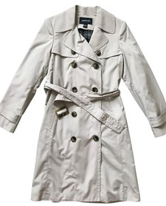 London Fog Trench Rain Stone Belted Trench Coat