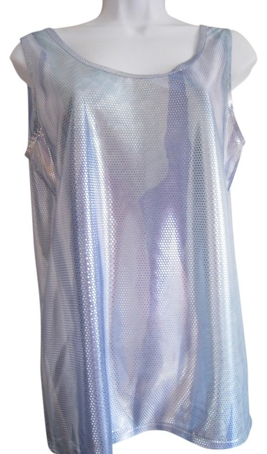 Opal by Lorraine Wardy Top Silver -Blue