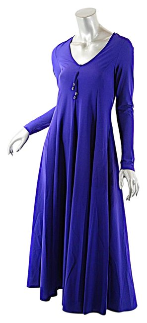 Preload https://img-static.tradesy.com/item/21324963/cobalt-blue-polyamide-blend-breathable-jersey-a-line-mid-length-casual-maxi-dress-size-6-s-0-1-650-650.jpg
