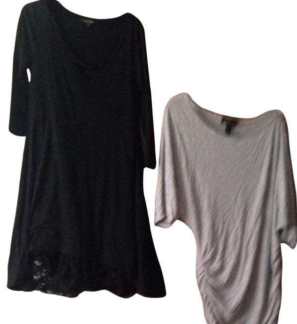 Preload https://item5.tradesy.com/images/inc-international-concepts-grey-black-off-the-shoulder-contemporary-short-casual-dress-size-10-m-2132504-0-0.jpg?width=400&height=650
