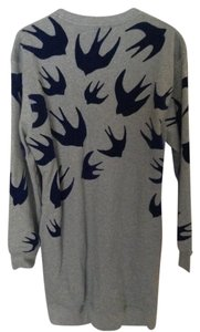 MCQ by Alexander McQueen short dress Gray Birds Sweater Oversized on Tradesy