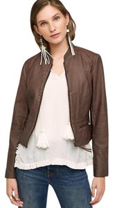 Anthropologie Plum Leather Jacket
