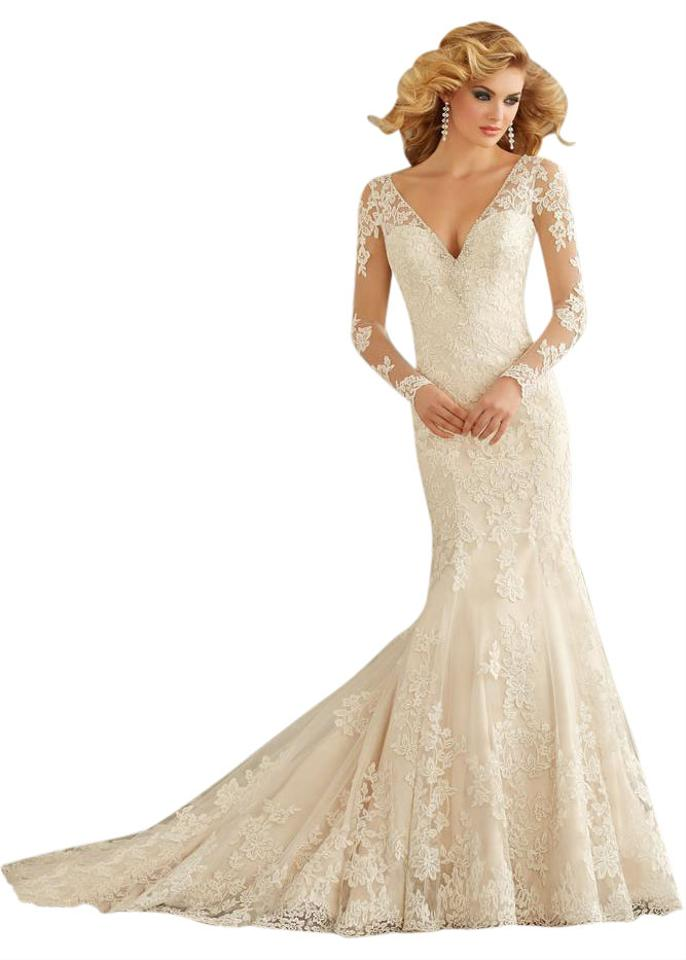 Mori Lee Lace and Tulle Angelina Faccenda 1350 Vintage Wedding Dress ...