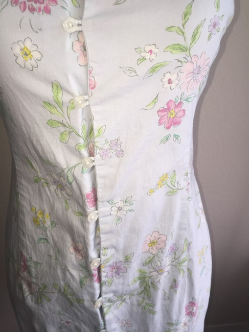 Ralph Lauren short dress Light Blue with floral on Tradesy