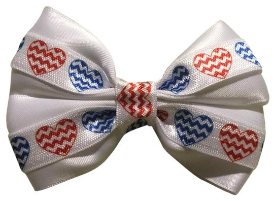 Preload https://img-static.tradesy.com/item/21325128/white-red-blue-handmade-satin-decorated-with-and-hearts-elastic-hair-accessory-0-1-540-540.jpg