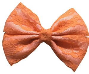 Other Handmade pink satin cover with orange lace bow