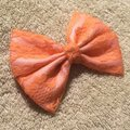 Other Handmade pink satin cover with orange lace bow Image 2