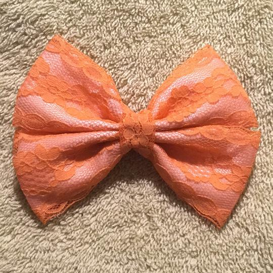 Other Handmade pink satin cover with orange lace bow Image 3