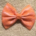 Other Handmade pink satin cover with orange lace bow Image 4