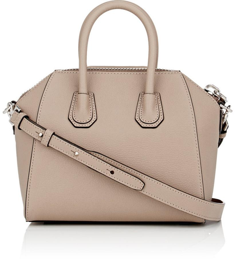 c8e63709883a Givenchy Mini Antigona In Grained  sugar  Mastic Taupe Nude Leather Satchel