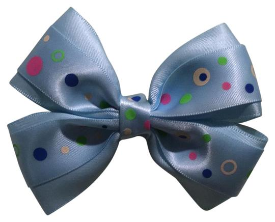 Preload https://img-static.tradesy.com/item/21325255/light-blue-polka-dots-handmade-decorated-with-a-satin-bow-on-aligator-clip-hair-accessory-0-1-540-540.jpg