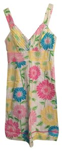 Lilly Pulitzer short dress White Blue Pink Yellow Green Summer on Tradesy