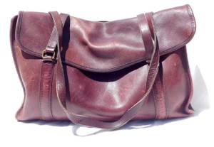 Coach Cowhide Leather Vintage Tote in burgundy