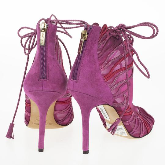 Jimmy Choo Heels Designer Made In Italy Limited Edition Magenta Sandals Image 1
