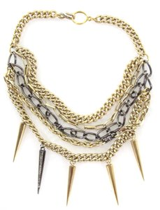 Paige Novick Layered Pave Crystal Spike Chain Collar Necklace