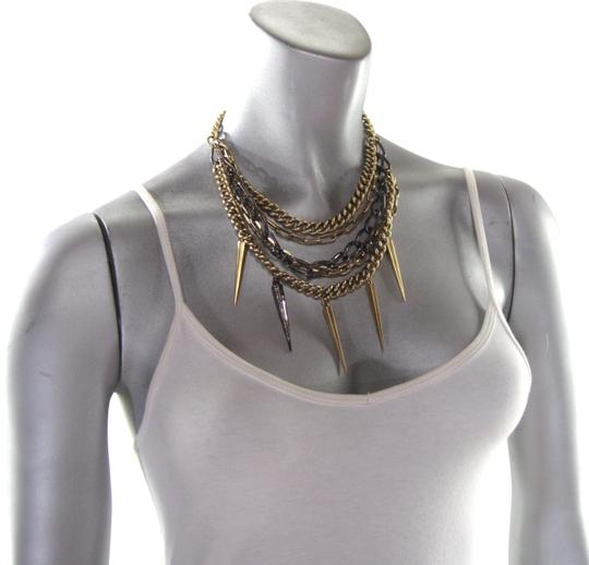 Paige Novick Layered Pave Crystal Spike Chain Collar Necklace Image 1