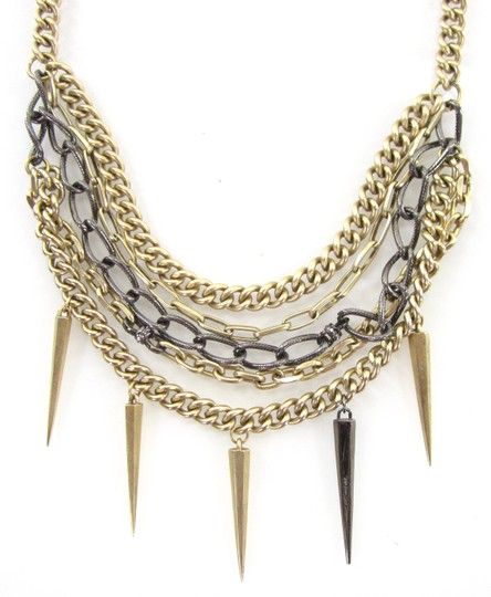 Paige Novick Layered Pave Crystal Spike Chain Collar Necklace Image 2