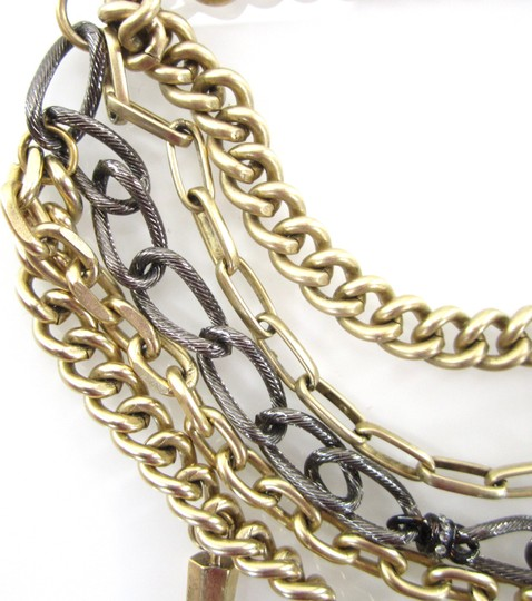 Paige Novick Layered Pave Crystal Spike Chain Collar Necklace Image 3