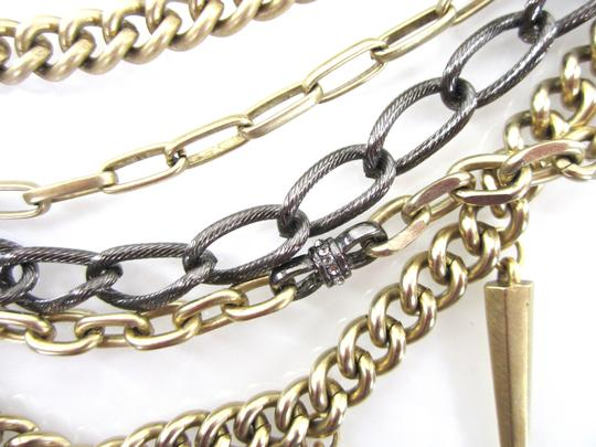 Paige Novick Layered Pave Crystal Spike Chain Collar Necklace Image 6