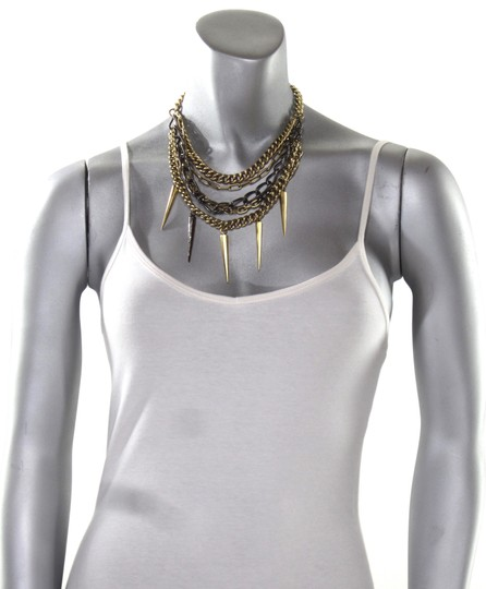 Paige Novick Layered Pave Crystal Spike Chain Collar Necklace Image 7