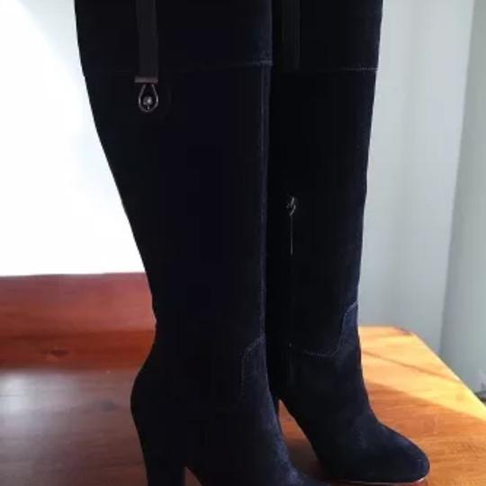 Joan & David Suede And Steria Chunky Black Boots Image 4