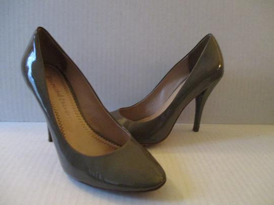 Jean-Michel Cazabat Leather Patent Romy Dark Taupe Pumps Image 1