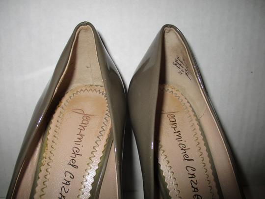 Jean-Michel Cazabat Leather Patent Romy Dark Taupe Pumps Image 3