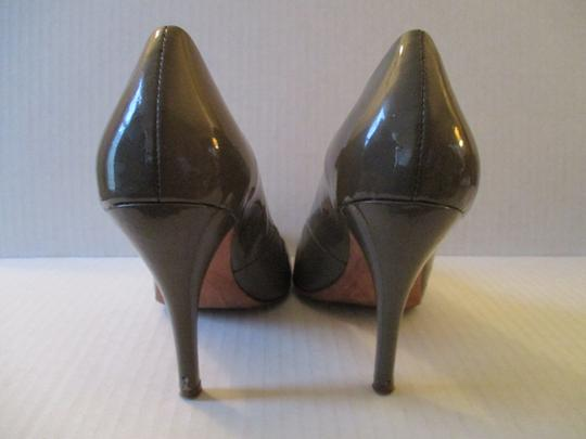 Jean-Michel Cazabat Leather Patent Romy Dark Taupe Pumps Image 5