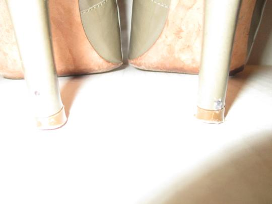 Jean-Michel Cazabat Leather Patent Romy Dark Taupe Pumps Image 7