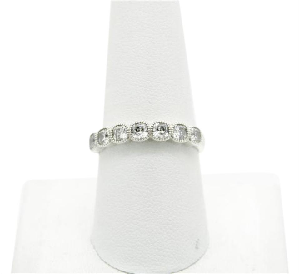 70ce08ab7 PANDORA Pandora S925 ALE 60 Alluring Cushion Stackable Ring, Clear CZ Image  0 ...
