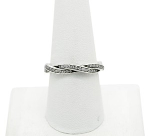 PANDORA Pandora S925 ALE 60 Twist Of Fate Stackable Ring, Clear CZ
