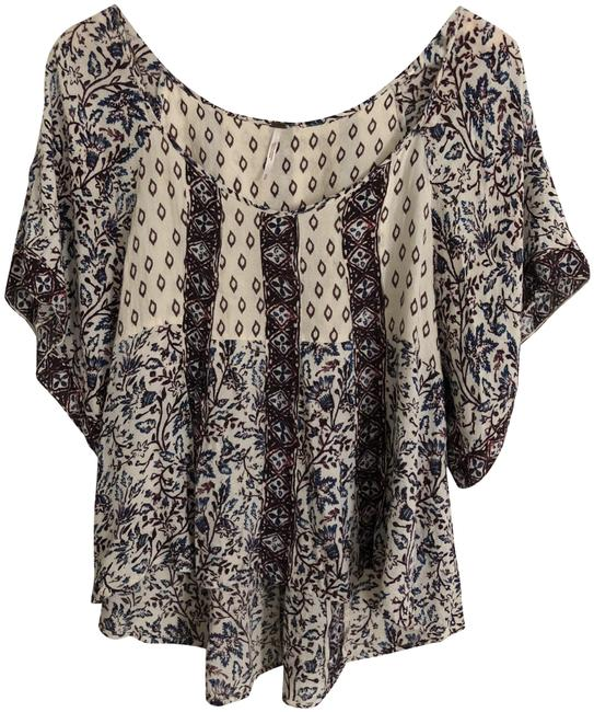 Free People Multicolor Bohemian Printed Blouse Size 8 (M) Free People Multicolor Bohemian Printed Blouse Size 8 (M) Image 1