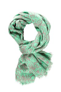 Marc Jacobs Green & Taupe Woven Lightweight Scarf