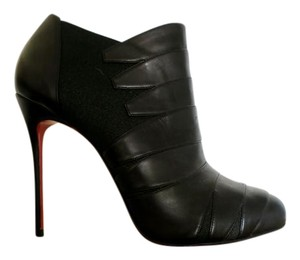 Christian Louboutin Pleated Stiletto Spring Fall Black Boots