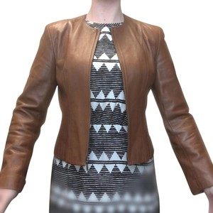 Anne Klein Chic Leather Anne Taylor Brown Leather Camel Leather Jacket