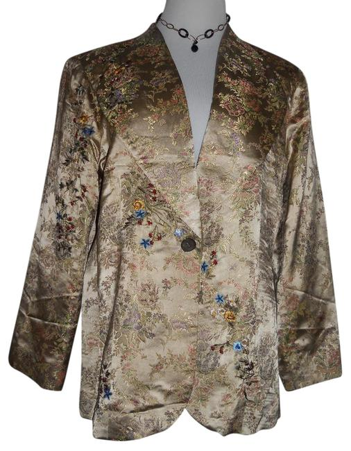 Spiegel Multi-color Spectacular Detailed Exquisite Embroidery. Jacket Size 18 (XL, Plus 0x) Spiegel Multi-color Spectacular Detailed Exquisite Embroidery. Jacket Size 18 (XL, Plus 0x) Image 1