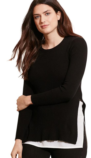 Preload https://img-static.tradesy.com/item/21325733/ralph-lauren-layered-cotton-blackwhite-sweater-0-1-650-650.jpg
