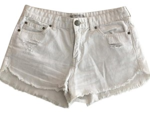 Free People Distressed Denim Summer Spring Cut Off Shorts White