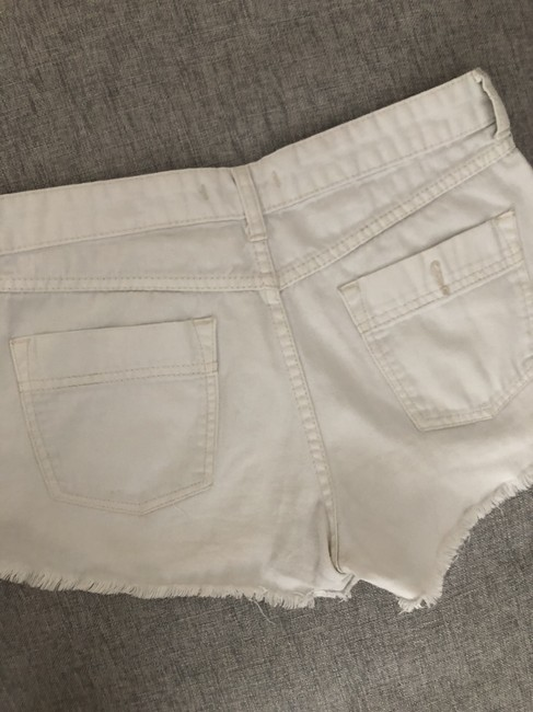 Free People Distressed Denim Summer Spring Cut Off Shorts White Image 2