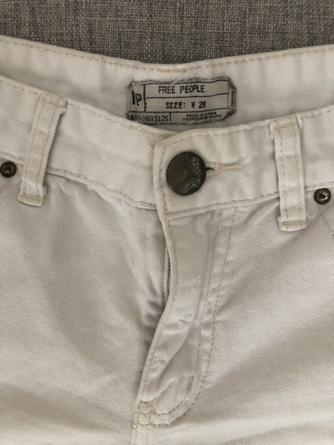 Free People Distressed Denim Summer Spring Cut Off Shorts White Image 3