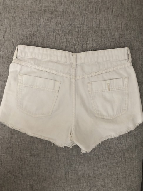 Free People Distressed Denim Summer Spring Cut Off Shorts White Image 7