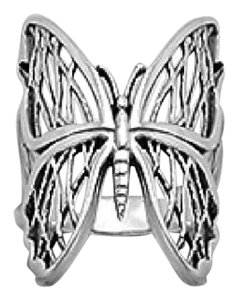 Other New. Sterling Silver Butterfly Ring