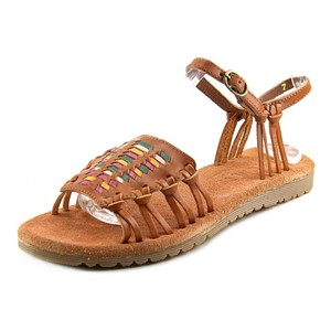 Matisse Festival Strappy Woven Leather British Tan Sandals