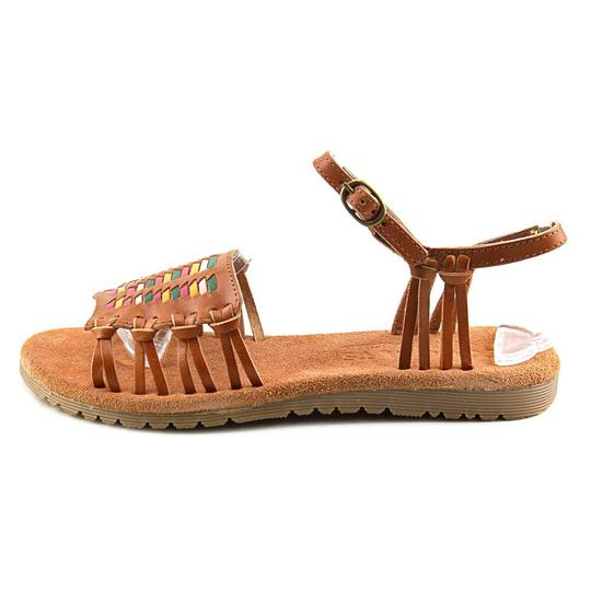 Matisse Festival Strappy Woven Leather British Tan Sandals Image 1