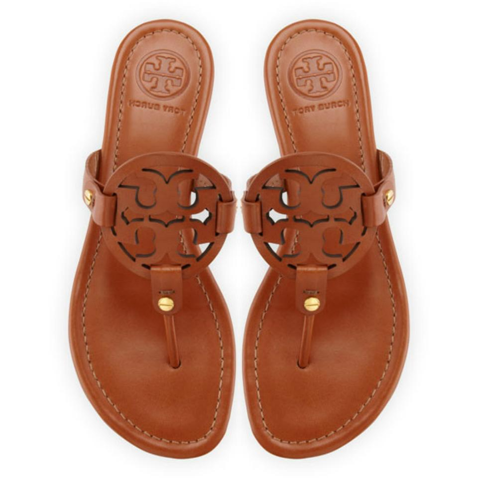 9a13bbead Tory Burch Brown Miller Leather Sandals Size US 10 - Tradesy