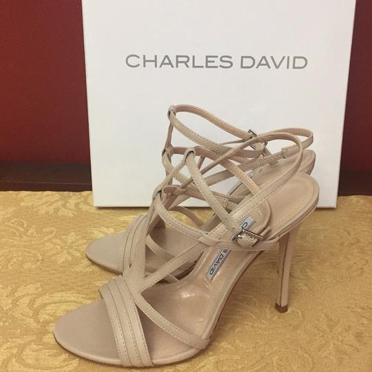 Charles David Leather nude Sandals Image 2