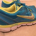 Nike Metallic Blue and Neon Yellow Athletic Image 1