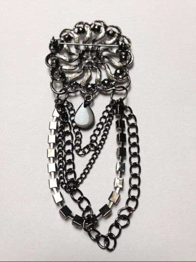 Other Rhinestone and Chain Brooch